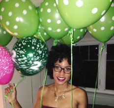 I think I was more excited about receving balloons that getting anything else!