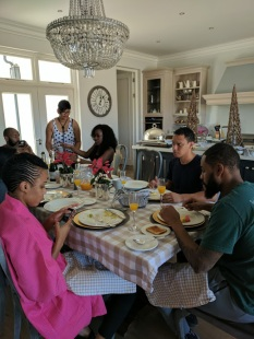 The house attendant who made us a wonderful breakfast